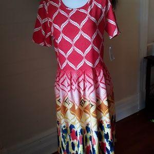 Hard To Find Lularoe Pattern Amelia Dress, XXL